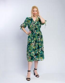 Φόρεμα με σούρες μουσελινα