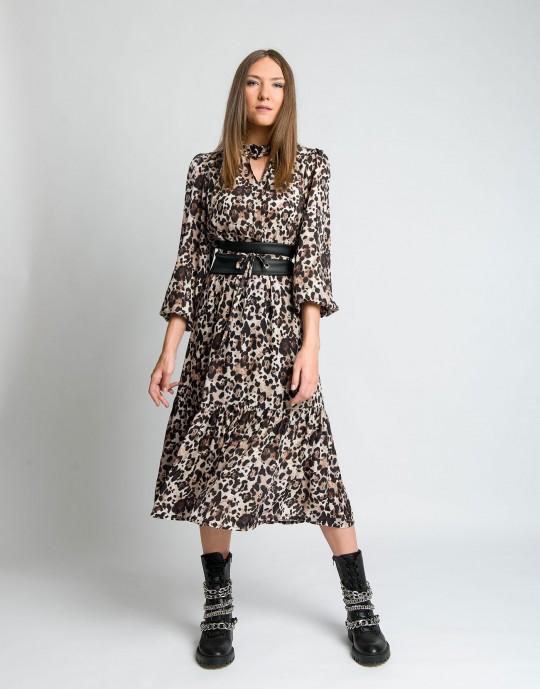 Φόρεμα μακρύ leopard