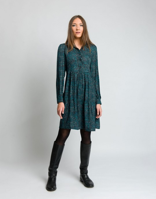 Φόρεμα με γιακά